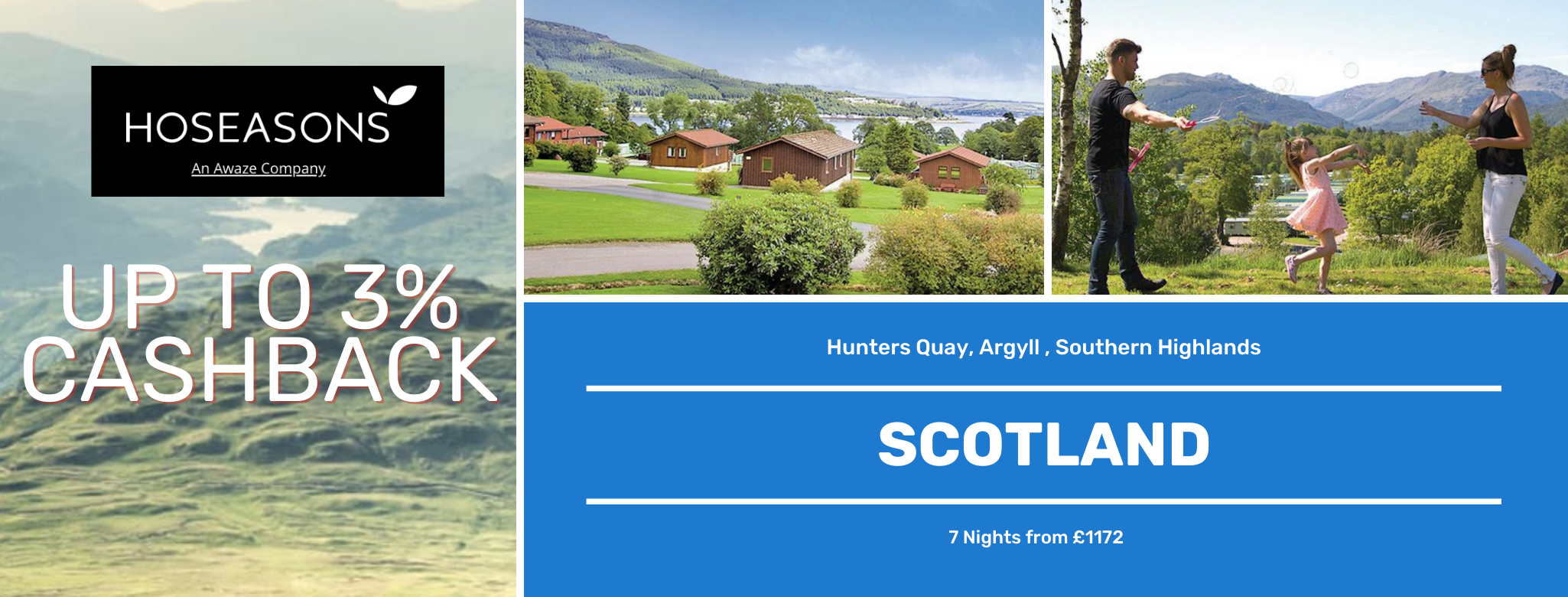 Hoseasons Scotland Up to 3% Cashback