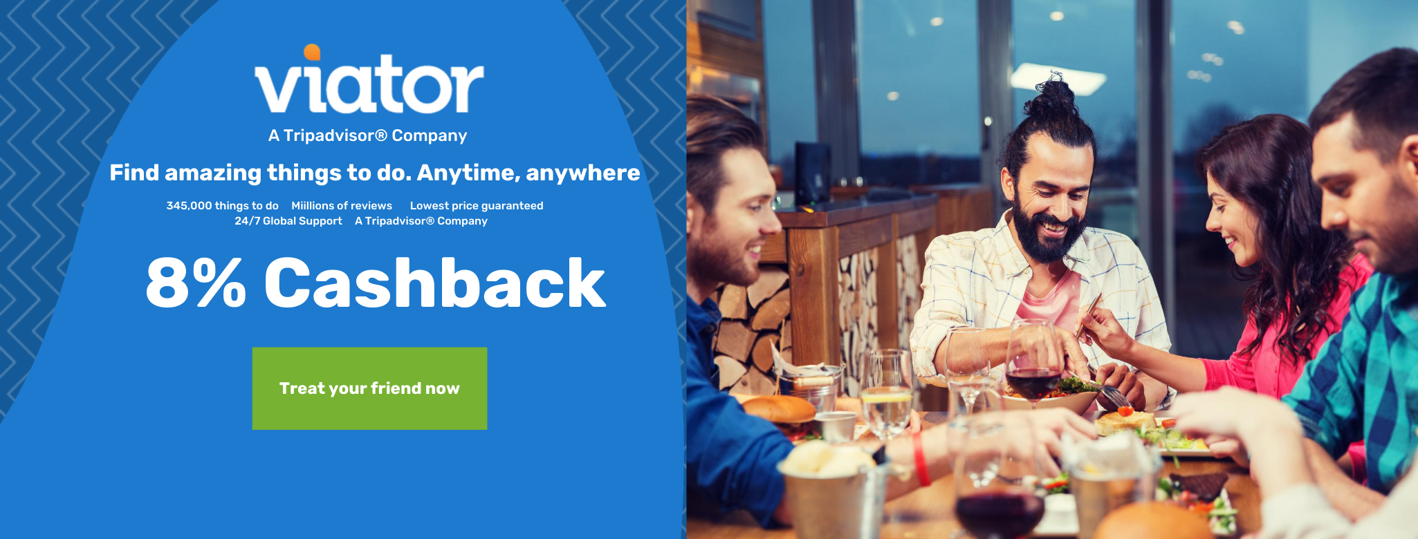 Viator - A Trip Advisor Company up to 8% Cashback