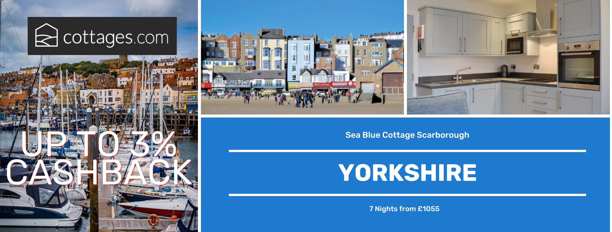 Cottages.com Yorkshire Up to 3% Cashback