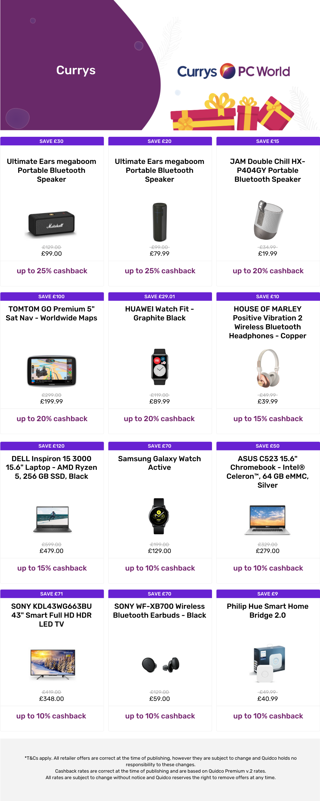 Currys gift guide