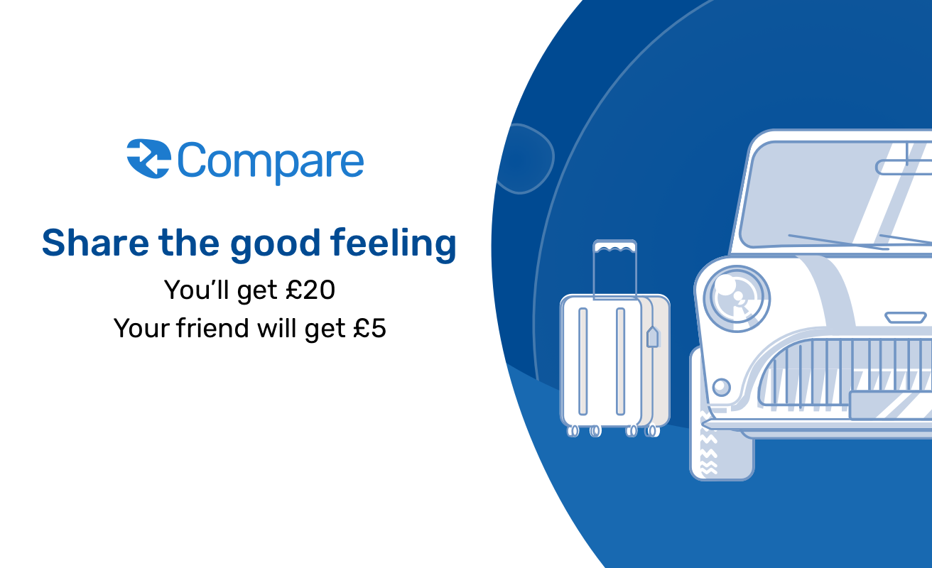 Quidco Compare: Tell a mate. You'll get £20 (they'll get £5)