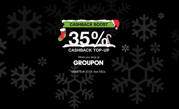 Get 35% cashback at Groupon — this weekend only