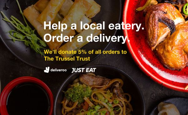 Help a local eatery. We'll donate 5% of all orders to The Trussell Trust.